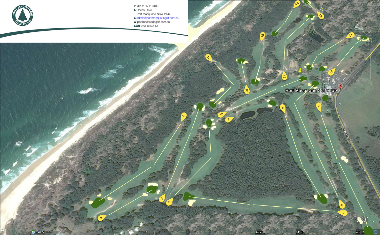 Port Macquarie Course Map