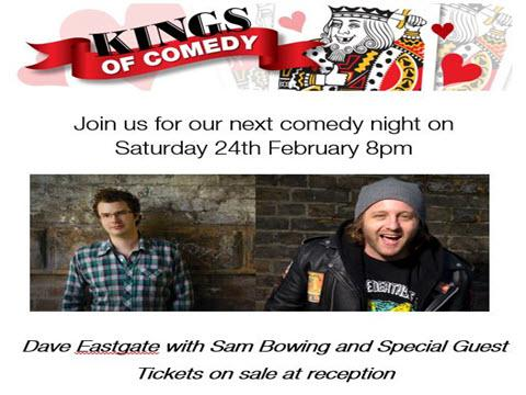 Comedy Night 24th Feb 8pm - Join us for a night of laughs :)