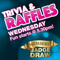 Wednesday Trivia and Raffles