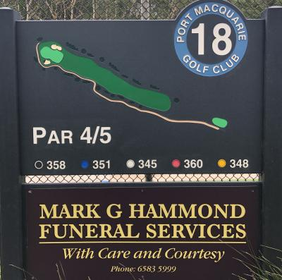18th Tee Mark G Hammond Funeral Services