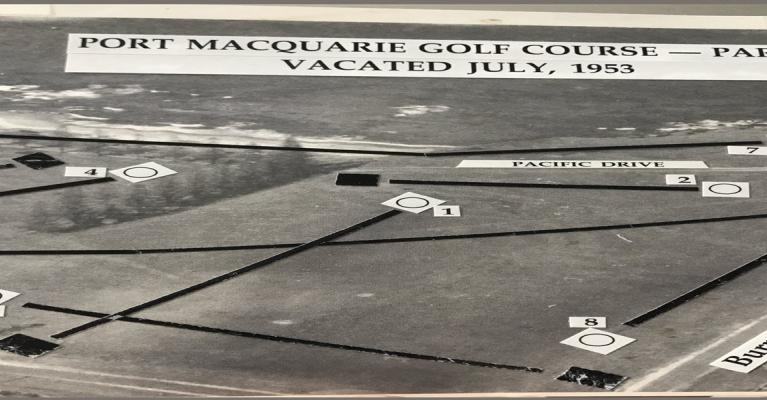 Course layout along Oxley Beach
